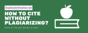 how to cite without plagiarizing