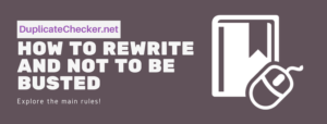 how to rewrite plagiarism
