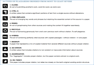 what are the different types of plagiarism you can detect